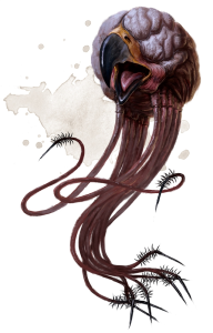 https://forgottenrealms.fandom.com/wiki/Grell#:~:text=Grell%20were%20sightless%20aberrations%20that,with%20tentacles%20and%20a%20beak.